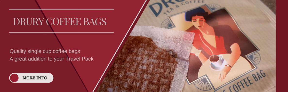 Drury Coffee Bags Banner